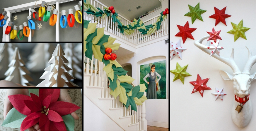 Effortless paper christmas decorations the