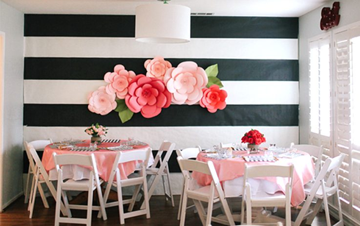 Giant paper flowers the paper giant paper flowers giant paper flowers diy wedding decorations mightylinksfo