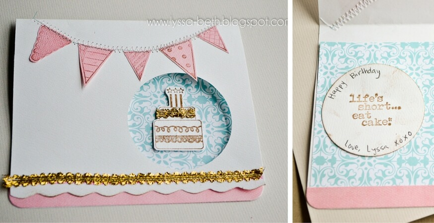 Showcase: Eat Cake Birthday Card