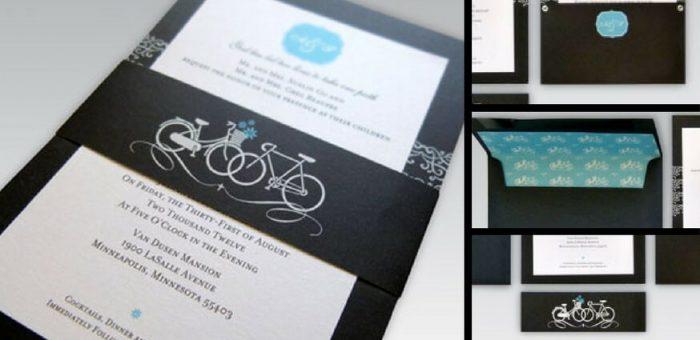 Showcase: Bicycle Wedding Invitations