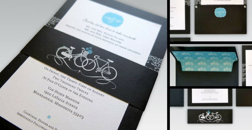 Showcase: Bicycle Wedding Invitations