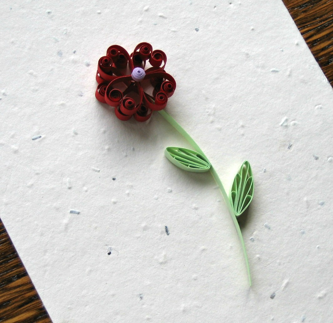 Paper Crafter Showcase Beautifully Quilled Flower Card The Paper Blog