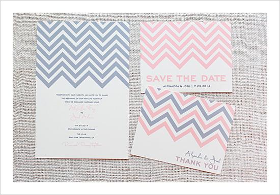 diy wedding invitations chevrons printable