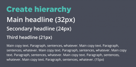 Font Hierarchy