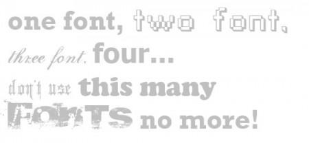 Too Many Fonts