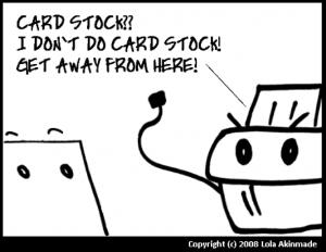 paper printing tips cardstock
