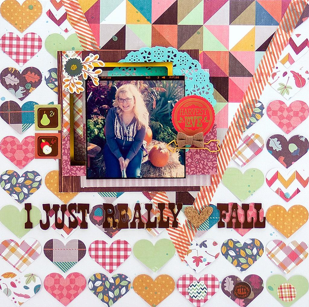 Allie Stewart Magical Messes Autumn Scrapbook Layout