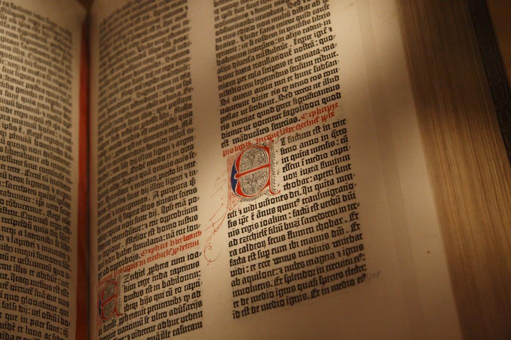 Gutenberg Bible Black Letter