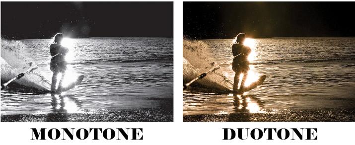 Monotone vs. Duotone