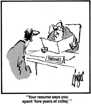 Resume Typo