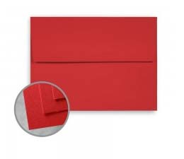 BriteHue Red Announcement Envelopes