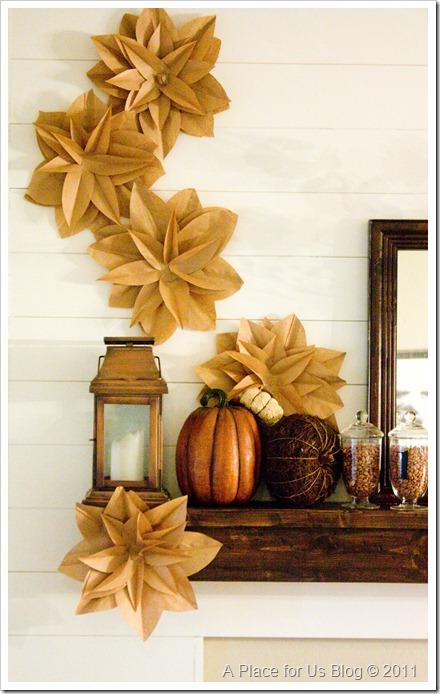 Brown Kraft Paper Flowers Thanksgiving Decoration