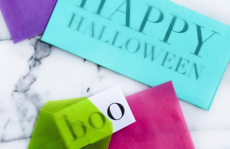 Halloween Snail Mail Printable