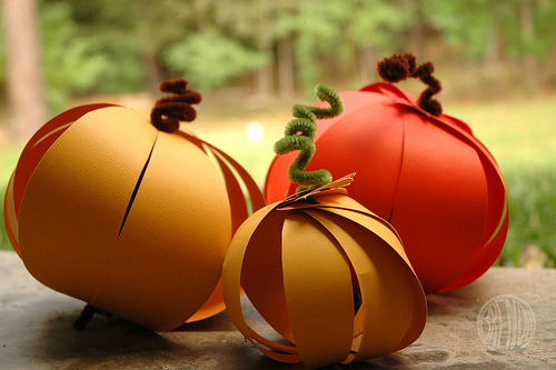 Paper Pumpkin Thanksgiving Kids Kraft