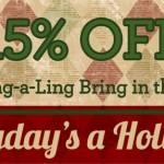 15% Off Cheer Sale