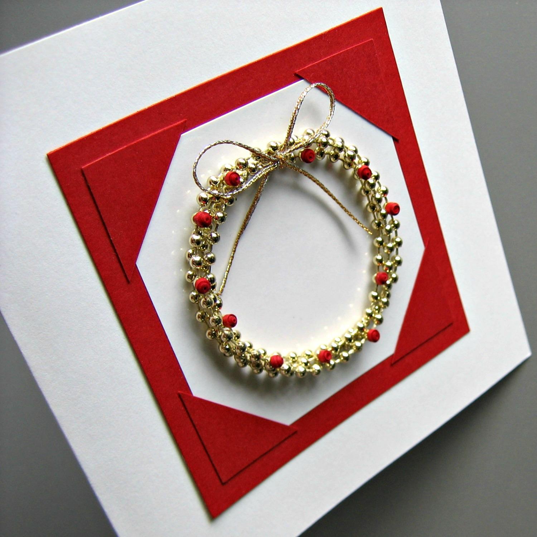 Bead Wreath Holiday Card