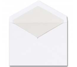Fine Impressions Stationery Hi White Baronial Envelopes with Pearl Liner