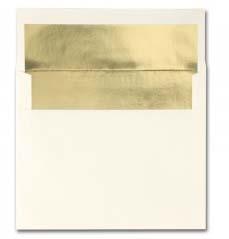 Fine Impressions Stationery Ecru Foil-Lined Envelopes with Gold Liner