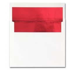 Fine Impressions Stationery Hi White Foil-Lined Envelopes with Red Liner
