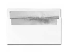 Fine Impressions Stationery Hi White Foil-Lined Envelopes with Silver Liner