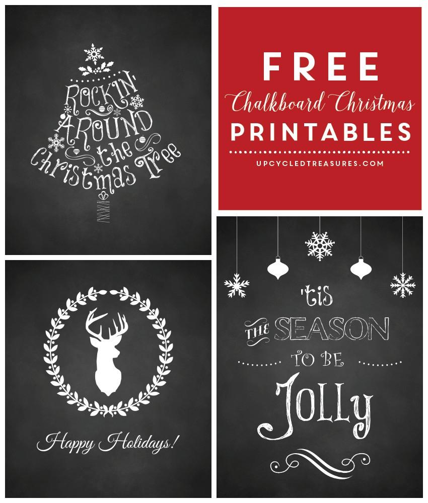 Last Minute Christmas Chalkboard Printables