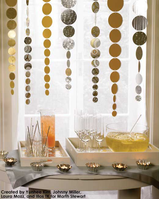 NYE Streamers from Martha Stewart