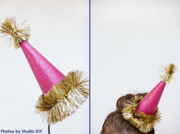 Glittery Party Hats from Studio DIY