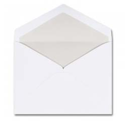 Fine Impressions Stationery Hi White Pearl-Lined Envelopes with Pearl Liner