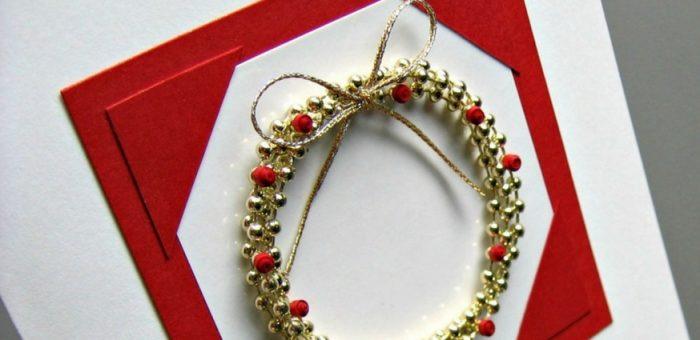 Showcase: Bead Wreath Card