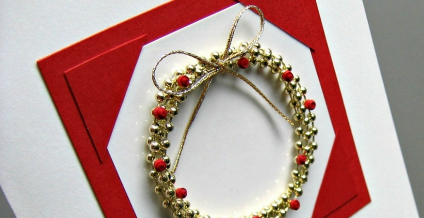 Showcase: Bead Wreath Card