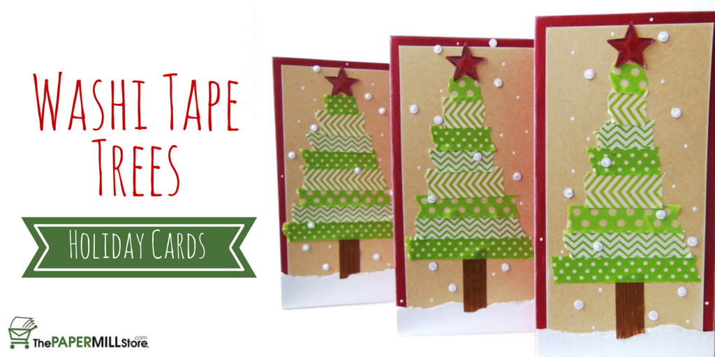 Washi Tape Christmas Tree Holiday Cards