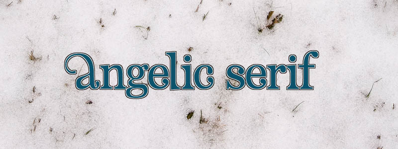 Featured Fonts Angelic Serif