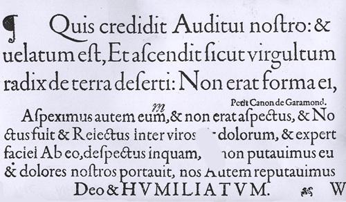Garamont Typeface