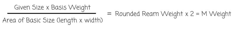 M Weight Formula