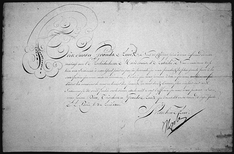 Emperor Napoleon's Wedding Announcements