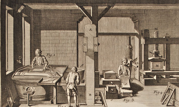 The Rise of an Industry: Papermaking | 1001 Inventions ... |Old Papermaking Technology