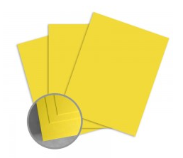 ColorMates Deep Sunshine Yellow Cardstock Valentines Day