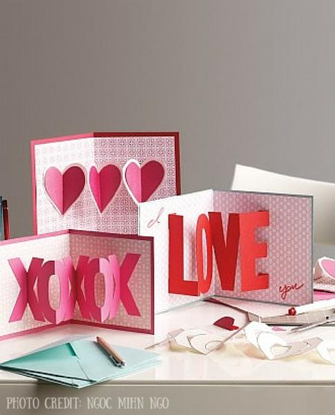 3D Pop Up Valentines Card Martha Stewart