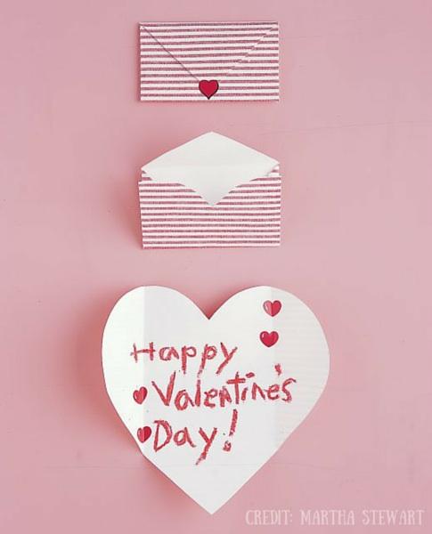 Folding Hearts Card Valentines Day Martha Stewart