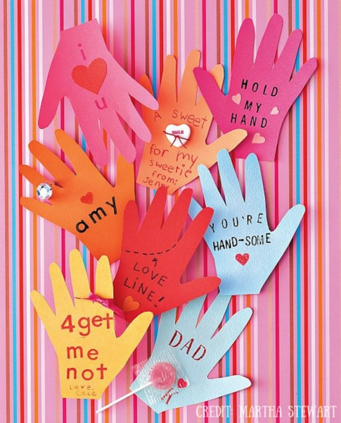 Hand Valentines Day Cards