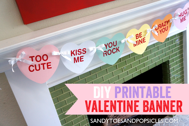DIY Printable Valentines Day Banner