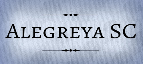 Featured Wedding Fonts Alegreya SC