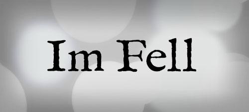 Featured Wedding Fonts IM Fell