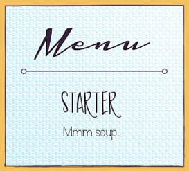 Whimsical Featured Wedding Fonts Menu Mockup