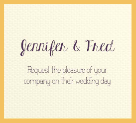 Whimsical Featured Wedding Fonts Invitation Mockup