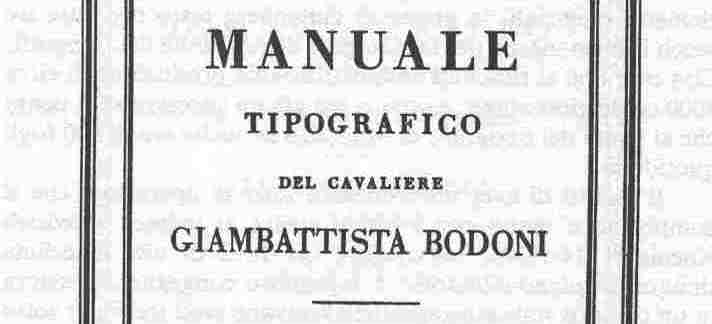 Bodoni Manuale Tipographico History of Typography
