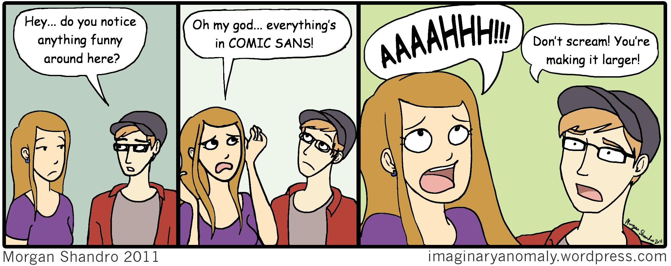 Comic Sans In Action