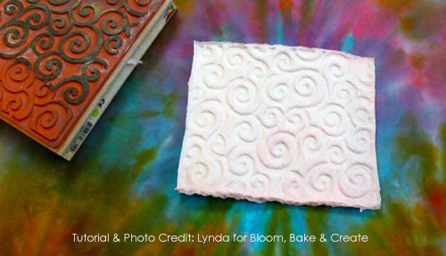 Stamping with Toilet Paper