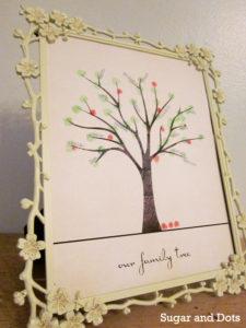 Fingerprint Family Tree Sugar and Dots