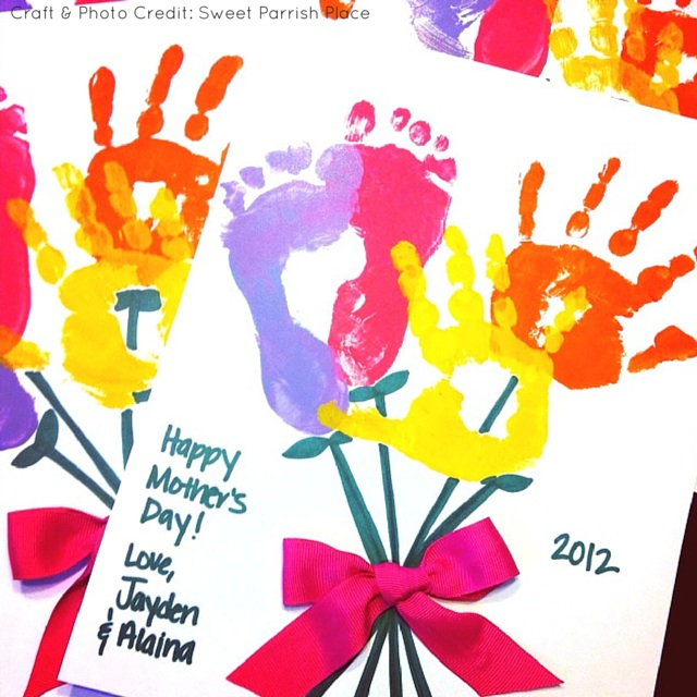 Handprint Bouquet Mothers Day Sweet Parrish Place